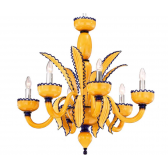 Lustre design de Murano aux couleurs flashy