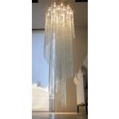 Lustre design en verre artisanal, oeuvre d'art numérotée