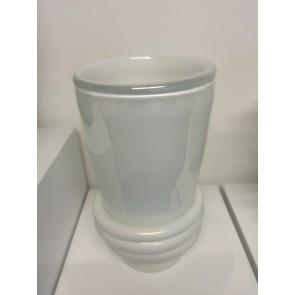 Vase artisanal en opaline de verre artisanal de Murano