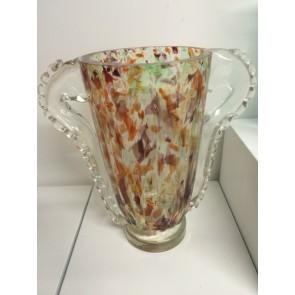 Vase artisanal en verre de Murano, modèle Kaléidoscope