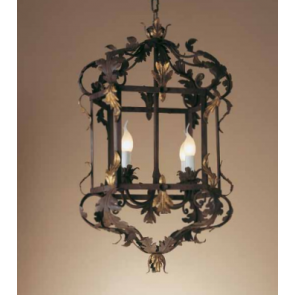 Lanterne baroque traditionelle florentine, dorée à l'or fin