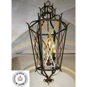 Lanterne en fer forgé traditionnel florentin