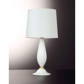 Pied de lampe artisanal en verre soufflé de Venise