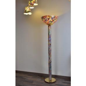 Lampadaire sur pied en verre artisanal de Murano