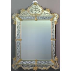Miroir à pareclose artisanal traditionnel Vénitien