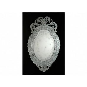 Miroir typique oval traditionnel vénitien