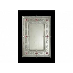Miroir rectangulaire de tradition vénitienne