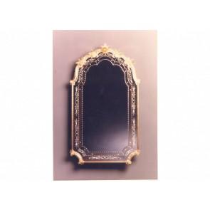 Miroir artisanal baroque de la plus pure tradition de Venise