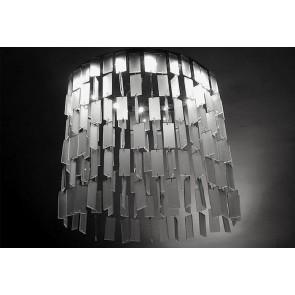 Lustre design écologique à plaquettes de verre