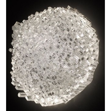 Original wall light in recycled glass