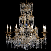 Amazing hand made chandelier with crystal drops