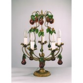 Classical table chandelier with fruits in original Murano glass from Venezia