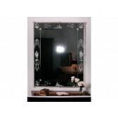 Miroir rectangulaire de fabrication vénitienne traditionnelle