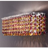 Applique Fontaine de lumière à pampilles de cristal