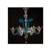 Lustre classique de Venise en verre soufflé de Murano