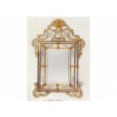 Glace rectangulaire baroque à parecloses, traditionnelle de Murano